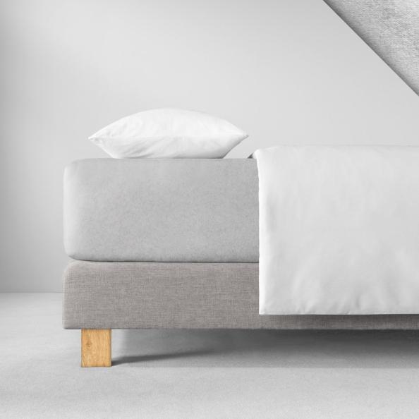 Spannbetttuch Samt-Velours | platin 140-160 (Breite) x 200 (Länge)
