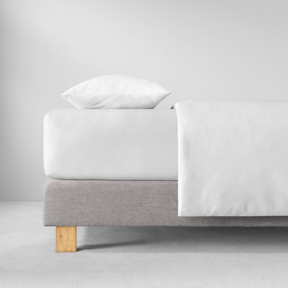 Spannbetttuch Natürlich Estella | weiss 90-100 (Breite) x 190-200 (Länge)