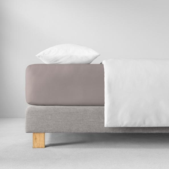 Spannbetttuch Natürlich Estella | kiesel 90-100 (Breite) x 190-200 (Länge)