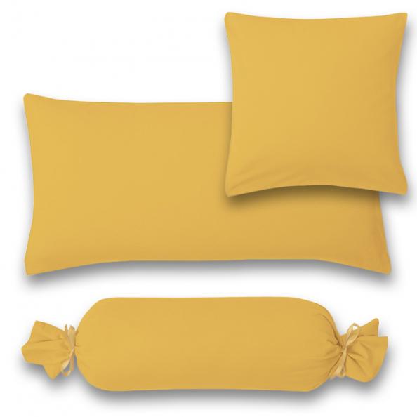 Kissenbezug Feinjersey | gold