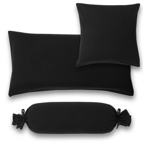 Kissenbezug Feinjersey | schwarz