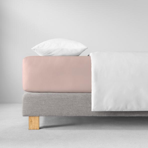 Spannbetttuch Zwirnjersey | rosa 90-120 (Breite) x 200-220 (Länge)