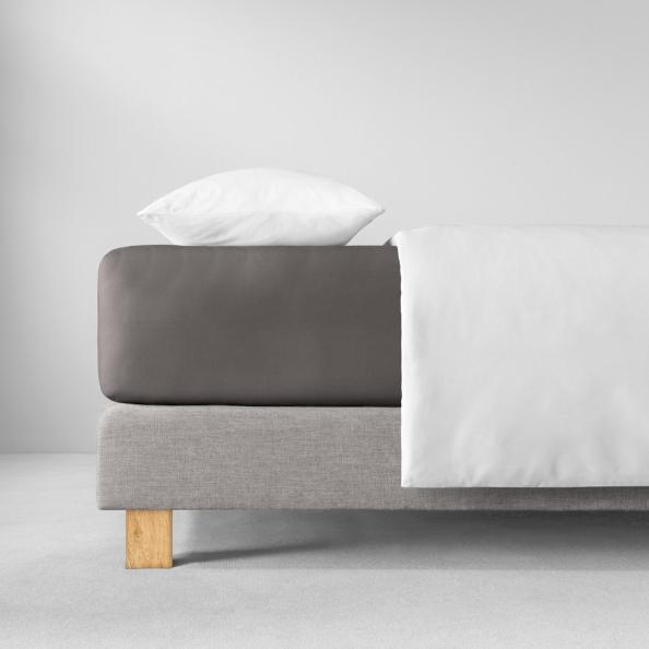 Spannbetttuch Zwirnjersey | graphit 90-120 (Breite) x 200-220 (Länge)
