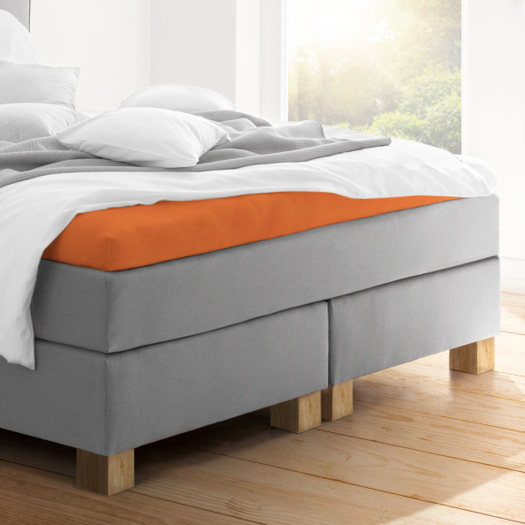 Topper-Spannbetttuch   terracotta