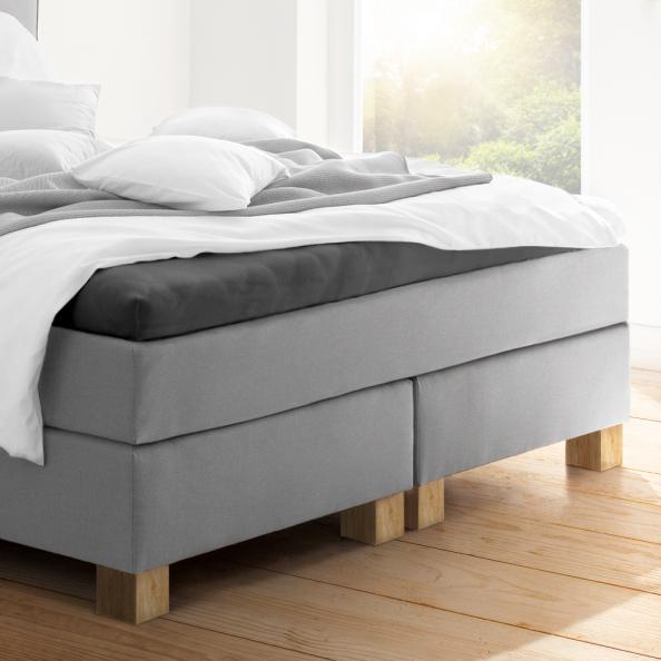 Topper-Spannbetttuch | graphit