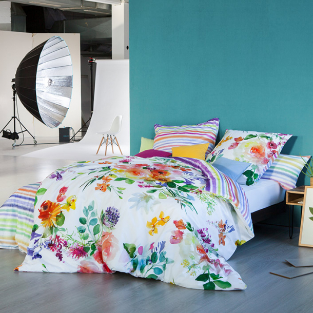 bettw sche flower power multicolor estella. Black Bedroom Furniture Sets. Home Design Ideas