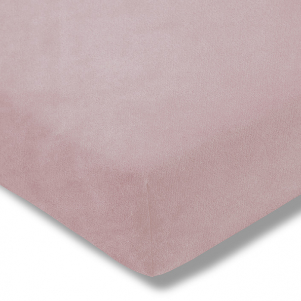Spannbetttuch Samt-Velours | rosa 180-200 (Breite) x 200 (Länge)
