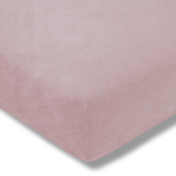 Spannbetttuch Samt-Velours | rosa