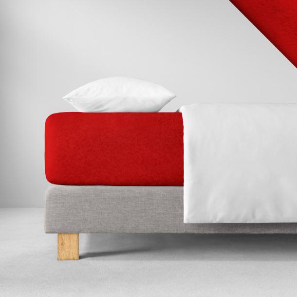 Spannbetttuch Samt-Velours | purpur 140-160 (Breite) x 200 (Länge)