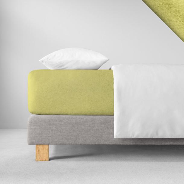 Spannbetttuch Samt-Velours | lind 140-160 (Breite) x 200 (Länge)