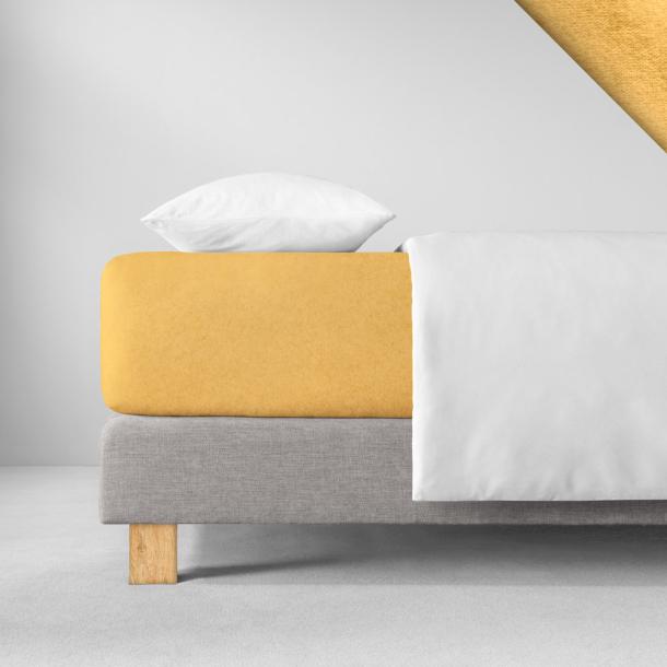 Spannbetttuch Samt-Velours | gold 180-200 (Breite) x 200 (Länge)