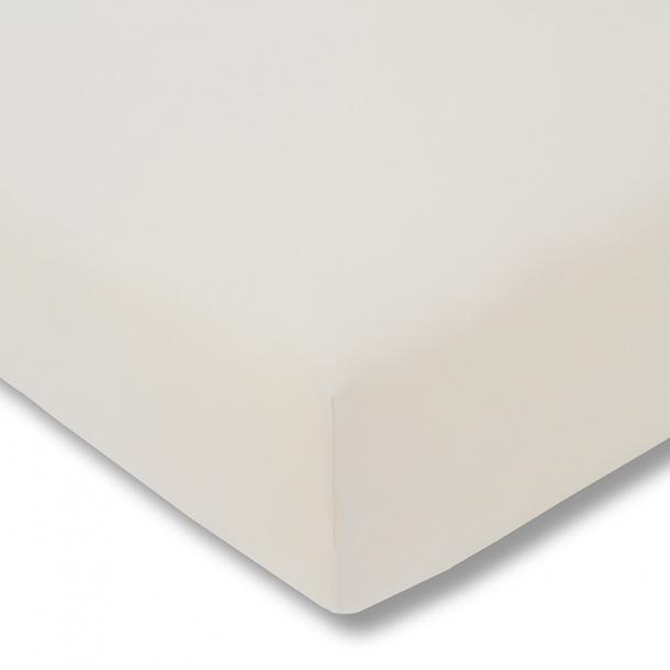 Spannbetttuch Bio-Jersey | elfenbein 90-100 (Breite) x 190-200 (Länge)