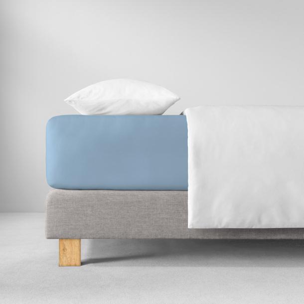 Spannbetttuch Zwirnjersey | hellblau 90-120 (Breite) x 200-220 (Länge)