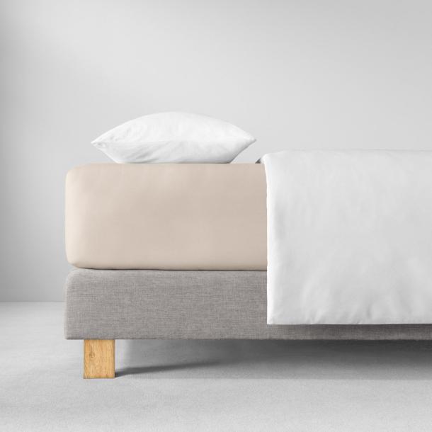 Spannbetttuch Zwirn-Jersey | beige 90-120 x 200-220