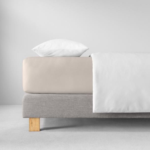 Spannbetttuch Zwirnjersey | puder 90-120 (Breite) x 200-220 (Länge)