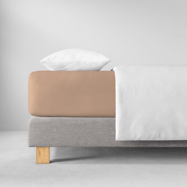 Spannbetttuch Zwirnjersey | karamel 90-120 x 200-220