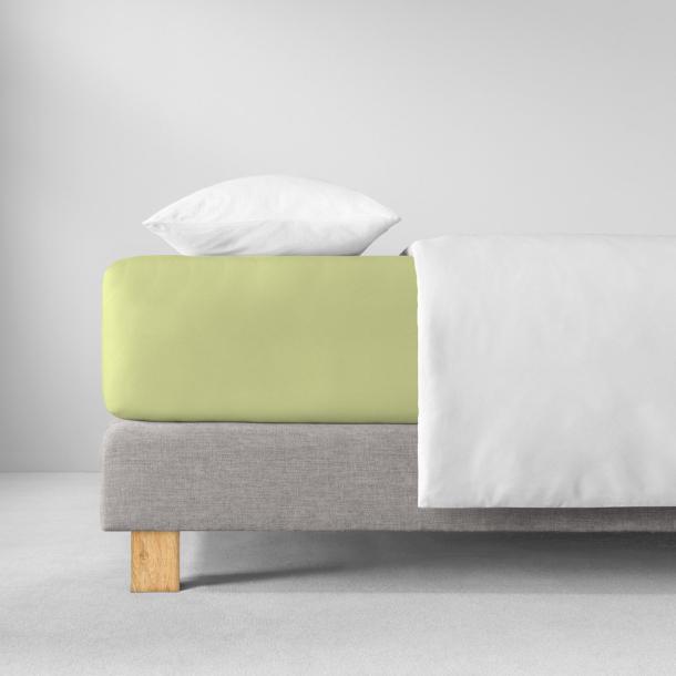 Spannbetttuch Zwirn-Jersey | maigrün 90-120 x 200-220