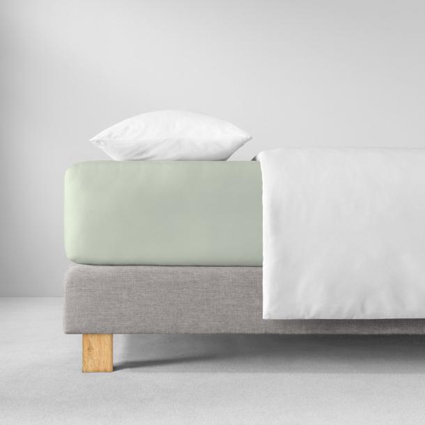 Spannbetttuch Zwirn-Jersey | verde 90-120 x 200-220