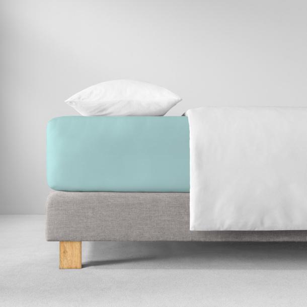 Spannbetttuch Zwirnjersey | azur 90-120 (Breite) x 200-220 (Länge)