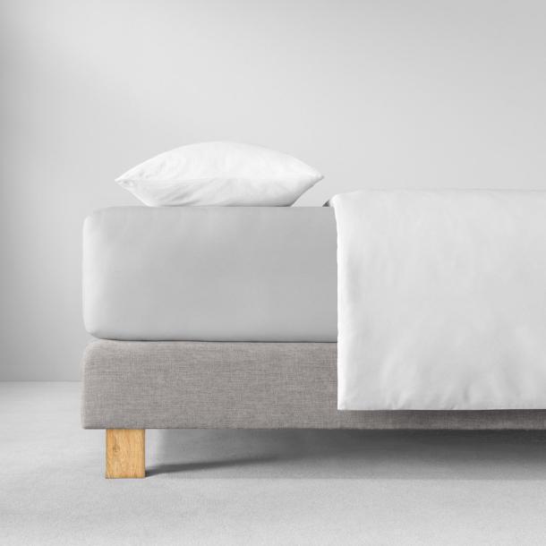 Spannbetttuch Zwirn-Jersey | silber 90-120 x 200-220
