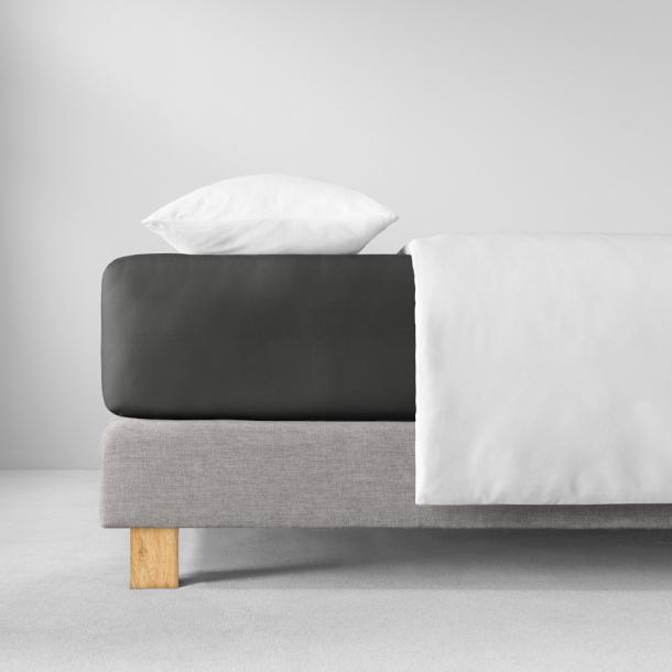 Spannbetttuch Zwirn-Jersey | schiefer 90-120 x 200-220