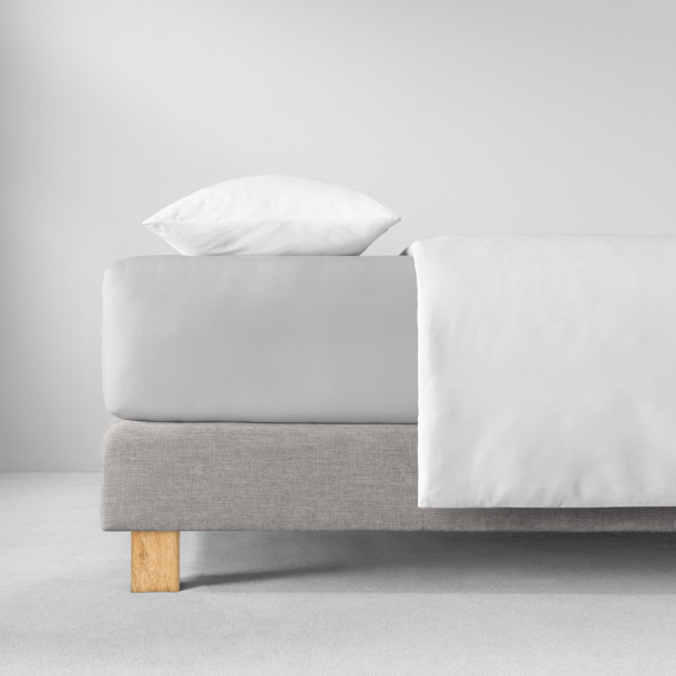 Spannbetttuch Zwirnjersey | platin 90-120 (Breite) x 200-220 (Länge)