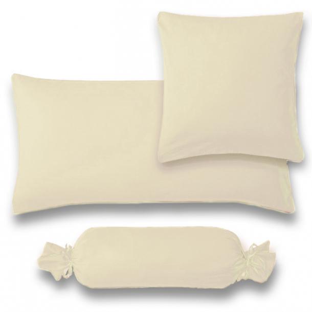 Kissenbezug Satin | beige 15x40  Nackenrolle