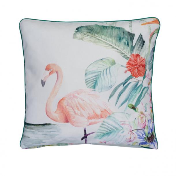 Dekokissenbezug Flamingo | lagune