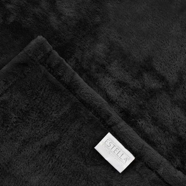 Kuscheldecke Polarflausch | schwarz