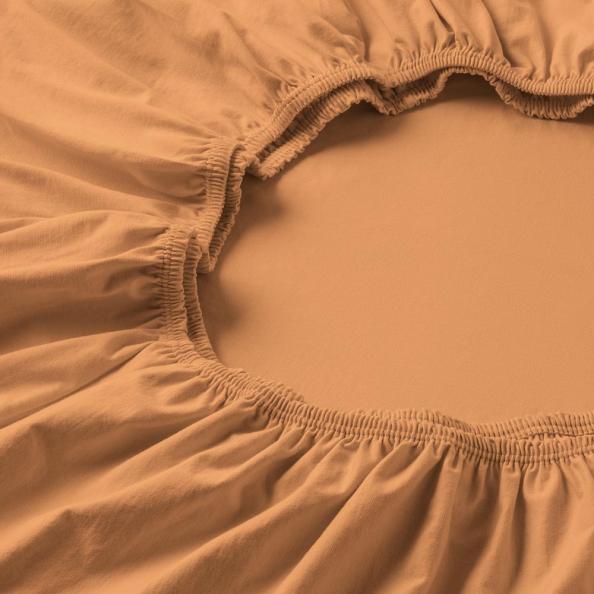 Spannbetttuch Zwirnjersey | apricot 90-120 (Breite) x 200-220 (Länge)