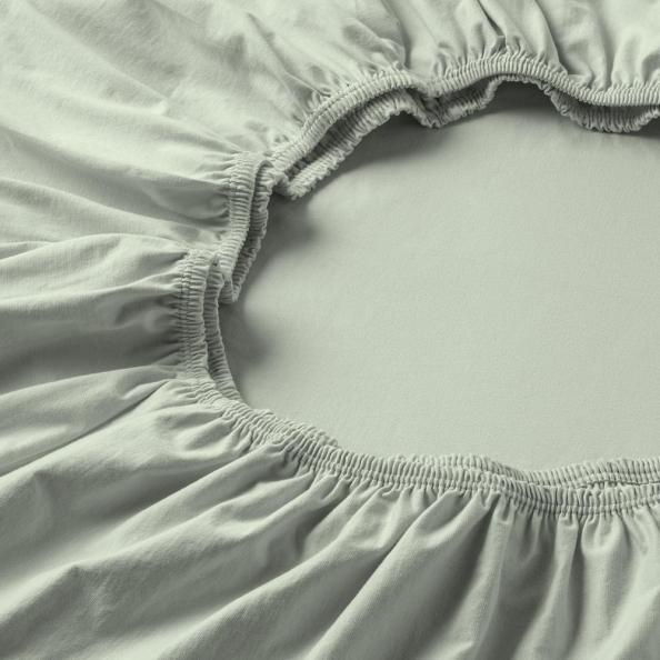 Spannbetttuch Zwirnjersey | verde 90-120 (Breite) x 200-220 (Länge)