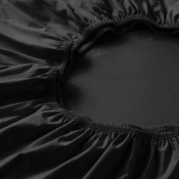 Topper-Spannbetttuch   schwarz