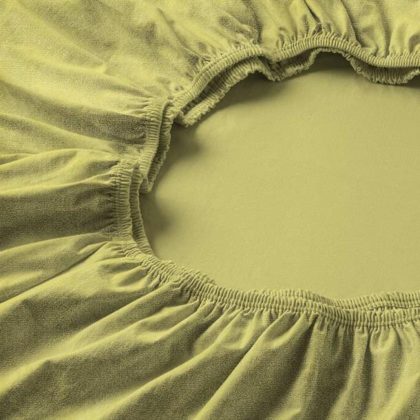 Spannbetttuch Samt-Velours | lind 90-100 (Breite) x 190-200 (Länge)