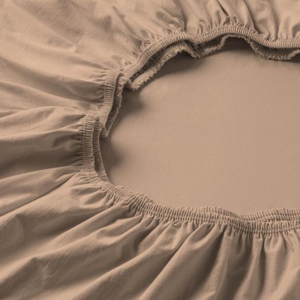 Spannbetttuch Zwirnjersey | karamel 90-120 (Breite) x 200-220 (Länge)