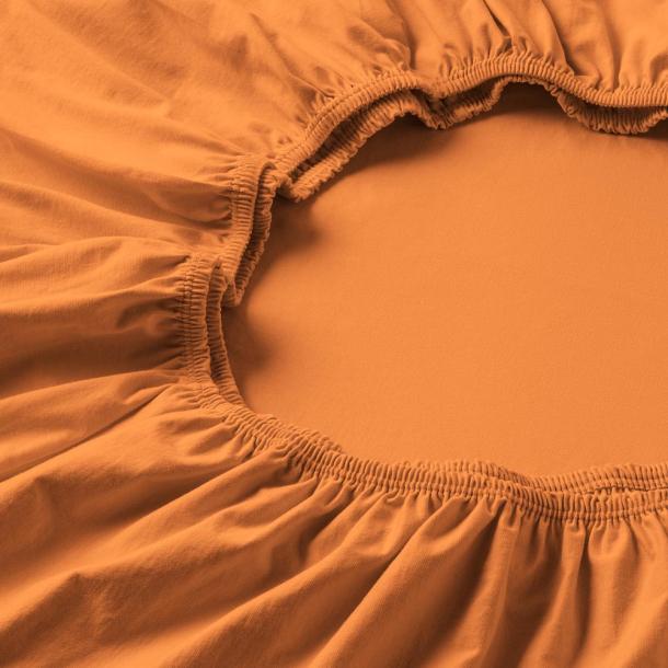 Spannbetttuch Zwirnjersey | orange 90-120 x 200-220