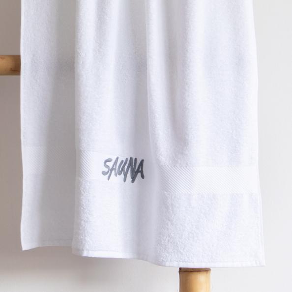 Saunatuch ESTELLA | weiss