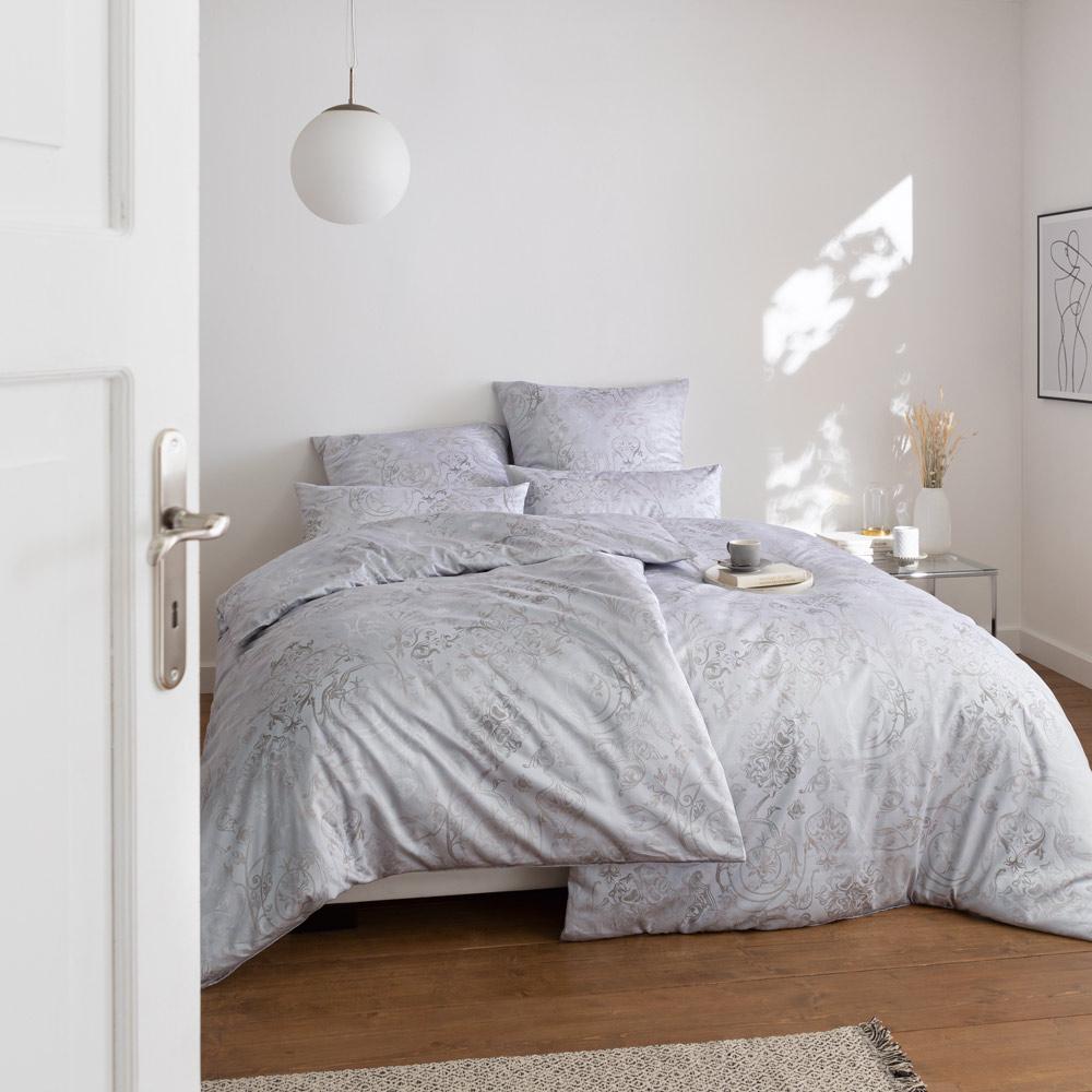 bettw sche svizzera silber 155x200 80x80 40x80 estella. Black Bedroom Furniture Sets. Home Design Ideas
