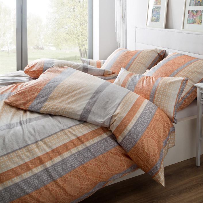 bettw sche maira orange estella. Black Bedroom Furniture Sets. Home Design Ideas