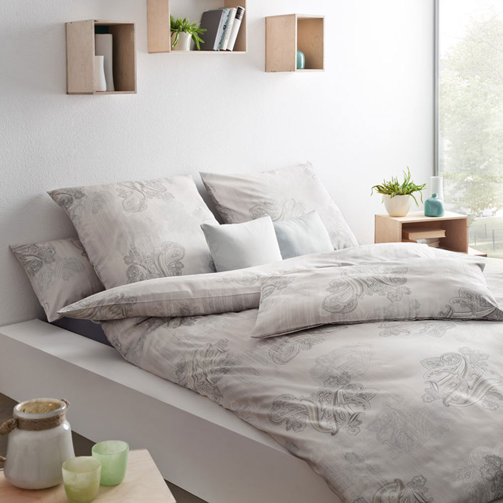 bettw sche indira taupe estella. Black Bedroom Furniture Sets. Home Design Ideas