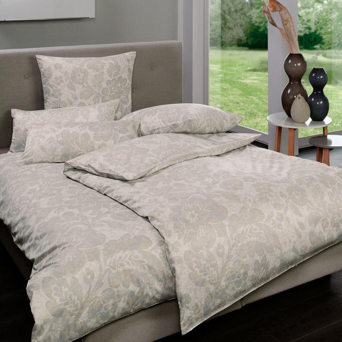 bettw sche edmondo taupe estella. Black Bedroom Furniture Sets. Home Design Ideas